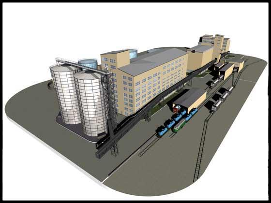 Трьохвимірна модель  олієекстракційного заводу