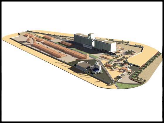 Трьохвимірна модель елеваторного комплексу
