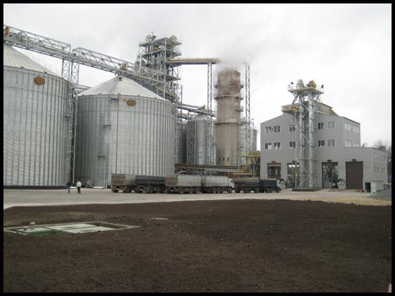 Зерновой элеватор мощностью 70 тыс. тонн одновременного хранения (по зерну пшеницы)
