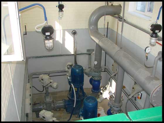 Комплекс по прийманню,  зберіганню та відвантаженню рослиної олії в м. Миколаєві. Насосна