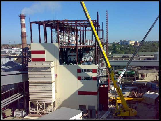 Олієекстракційний завод у м. Полтаві. Будівництво  обрушувально-віяльного та олієпресового цеху